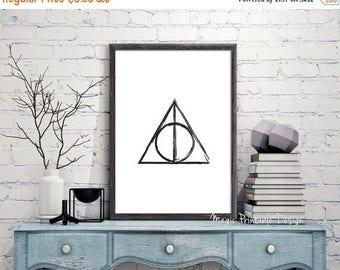 80% OFF SALE Deathly Hallows print, Harry Potter Deathly Hallows poster, Deathly Hallows prints wall Art, Harry Potter Fan Art 8x10 A3 A4 18