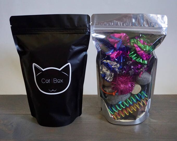 Cat/ Feline Toy Bag including Organic Wheatgrass Seeds