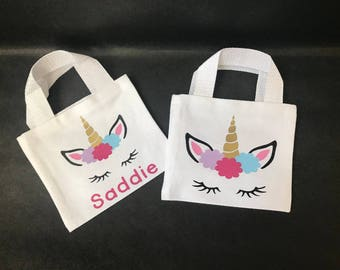 Unicorn Favor Bags - unicorn gift bags - unicorn party favor bags - unicorn party - unicorn canvas bags - unicorn birthday