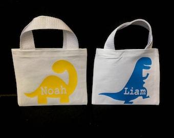 Dinosaur Canvas Favor Bags - dinosaur gift bags - dinosaur party favor bags - dinosaur party - dinosaur canvas bags - dinosaur birthday