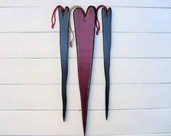 Primitive Wooden Hearts (3)