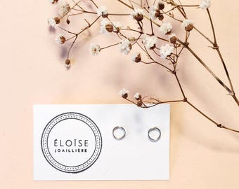 sterling silver earrings, minimalist earrings, circle earrings, minimalist earrings, circle earrings, sterling silver
