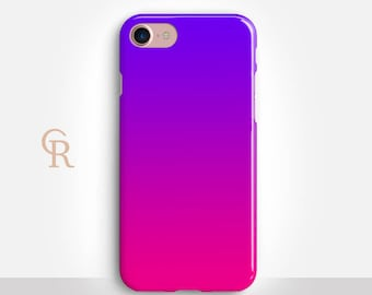 Ombre Phone Case For iPhone 8 iPhone 8 Plus iPhone X Phone 7 Plus iPhone 6 iPhone 6S  iPhone SE Samsung S8 iPhone 5 Pink Purple Samsung S7