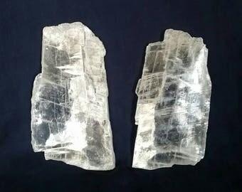 Selenite TWIN FLAME Lovers Crystals // Raw Selenite  // Crystal Healing // Heart Chakra Balance // Twin Flames // White Selenite Soulmates