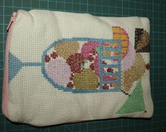 A Sundae Completed Cross Stitch