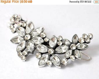 Vintage Style Diamante Bridal Hairclip Wedding Accessory for Bride Hair