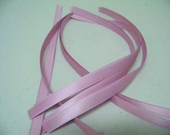 Vintage Dust Pink Pre-cut Satin Ribbons Pack 10