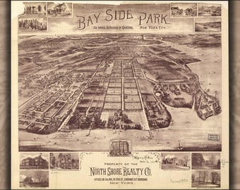 Poster, Many Sizes Available; Map Of Bay Side Park Queens New York City 1915