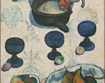 Poster, Many Sizes Available; Still Life With Three Puppies By Paul Gauguin