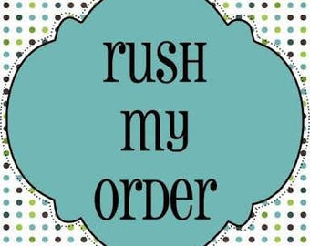 Custom request  - Rush order and express post