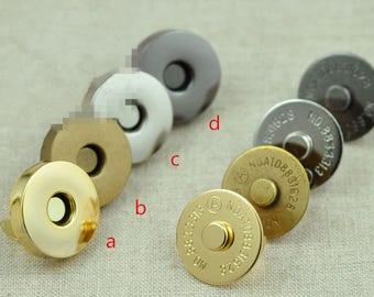 20Sets 18mm DIY Magnetic Fastener Snaps, Purse Handbag Clasp Closures, Metal Magnet buttons, Bag Craft Supplies, Rivet Press Studs Materials