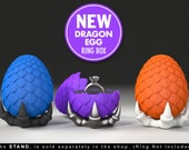 Dragon Egg Game of Thrones Ring Box - proposal ring box, engagement ring box, ring case, wedding, marriage, geeky, geek, fantasy, geekery