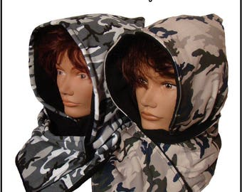 Lined hood scarf - Christmas gift idea