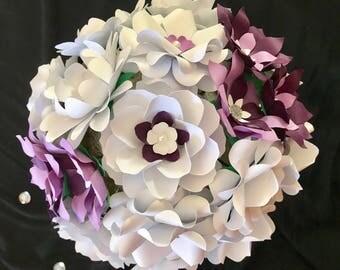 White Purple Wedding Bouquet Bridal Flower