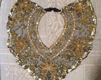 hand beaded jeweled collar