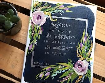 Romans 12:12 canvas (darker)