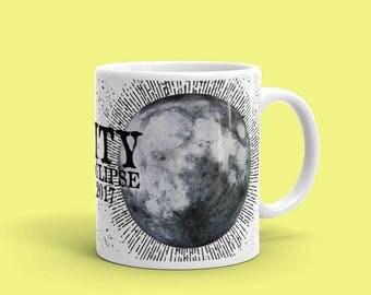 Solar Eclipse Mug, Solar Eclipse 2017, Souvenir Mug, Moon Mug, Moon Gift, Total Solar Eclipse, Totality, Moon Art, Lunar Mug, Great American