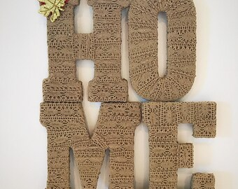 SALE! Home Letters, Decorative Letters, Shabby Chic Decor, Housewarming Gift, Letter Decor, Real Estate Closing Gift, Home Decor