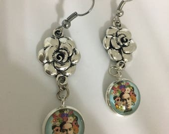 Frida Kahlo Earrings, Mexican Culture, Small Earrings, Valentine's Day Gift, Galentine's Day, Valentine's