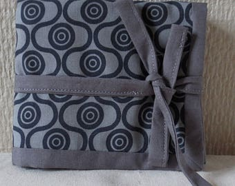 Pouch ethnic grey and black/REF oils PH34