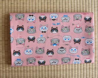 cat cotton fabric  1/2 yard