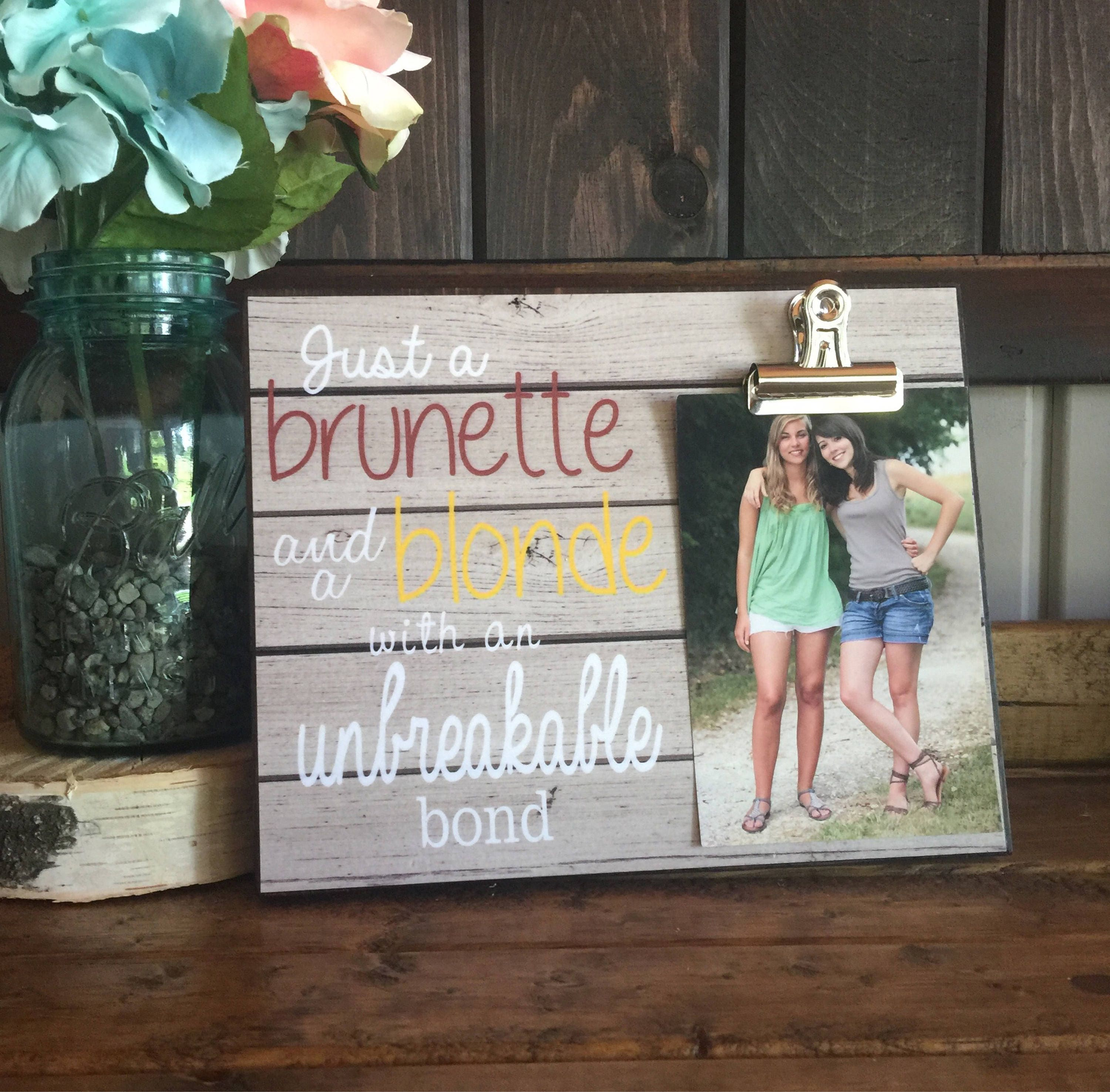 Sister Wedding Gifts: Personalized Picture Frame Gift For Sister Gift For Best
