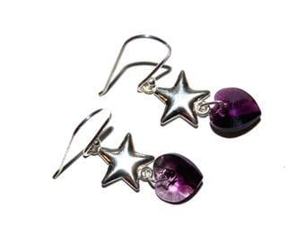 Special St. Valentine's day earrings silver love PEP