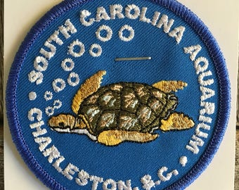 South Carolina Aquarium Souvenir Travel Patch