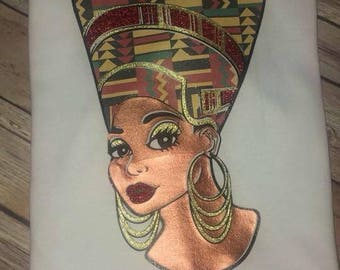 Queen Nefertiti inspired tee