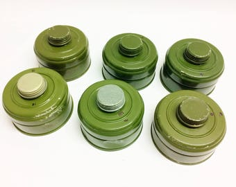 6pcs gas mask filter 40mm replacements 40mm standard nato soviet gas masks nato gp-5 gp-7v PDF GP-7 PMK gp-4 gas mask Israeli russian
