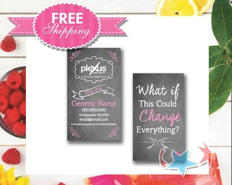 Plexus Personalized Business Cards | Chalkboard | Digital or Print | Includes products | Vertical | sku505