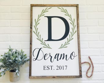 Personalized Farmhouse Style|Wood Sign