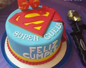 Superman edible fondant cake topper