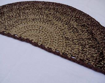 Runder teppich beige  Runde Teppiche aus Wolle Teppich häkeln Beige Runde Teppiche
