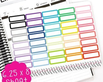 LS305 Rainbow Quarter Boxes!  Set of 40 Perfect for the Erin Condren Planner!!!