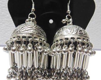ethnic indian silverton oxidized afghan bellydance banjara zoomkha earring gypsy boho