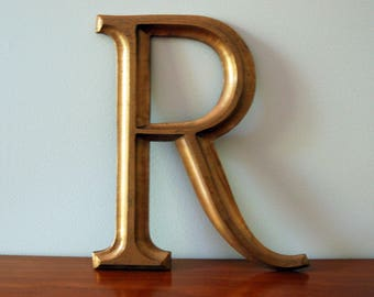 Large Cast Brass Alphabet Letters- R , Y left!