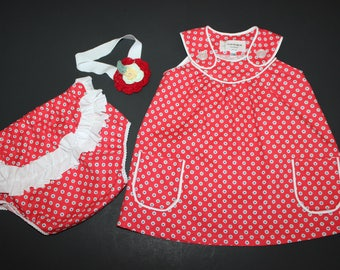 Baby girl dress and short set 12 months/1 year old