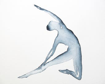 yoga art anatomy studio series cow faced pose 8 x 10