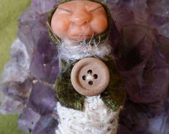 Handmade sleeping podlet faery baby
