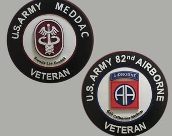 Military Wall Art. 101st Airborne, 82nd Airborne, 10th Mountain, 1st CAV