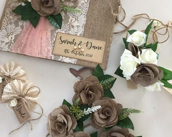 Forever keeps faux flower bridal package