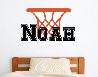 Gentil Personalized Name Basketball Wall Decal   Custom Name Basketball Wall  Sticker   Vinyl Decal Monogram Girls