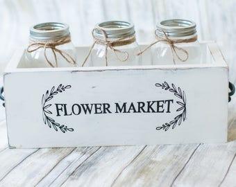 Mason Jar Flower Box