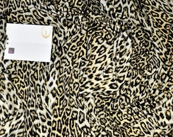 Roberto Cavalli authentic viscose jersey  fabric. Animal print. Made in Italy. Quality designer fabric. Price for 0.80 X 1.35 meters