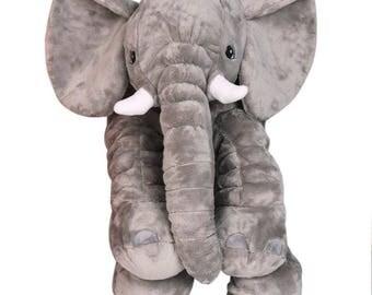 Elephant pillow, baby kids head pillow, soft, pink