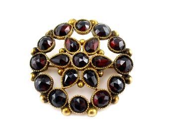 Antique Victorian Bohemian Garnet Pin/Brooch/Pendant