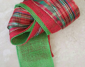 Christmas Is Coming Textile Bundle Mixed Media Weaving Braiding Art Materials Basketry Fabric DIY Craft Pack