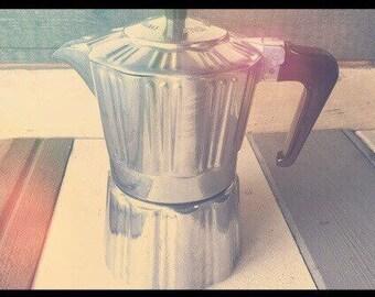 Albertini Superespresso Dolce Caffé moka pot 3 cup 1960 Italy perculator coffee maker aluminum