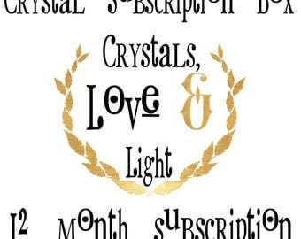 Crystal Subscription Box, 12 month subscription